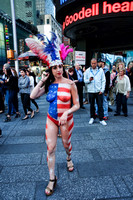 Painted lady of Times Square