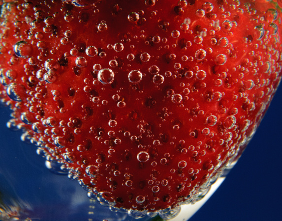 Close-Up Strawberry in Glass